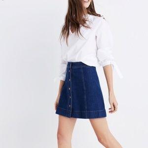 Madewell Metropolis Snap Jean Skirt